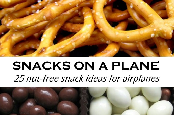 Snacks on a Plane 25 nut-free snack ideas for airplanes via www.parentclub.ca