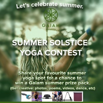 Gaiam Summer Yoga Prize Pack via www.parentclub.ca