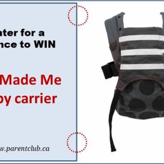 We Made Me Baby Carrier Giveaway via www.parentclub.ca