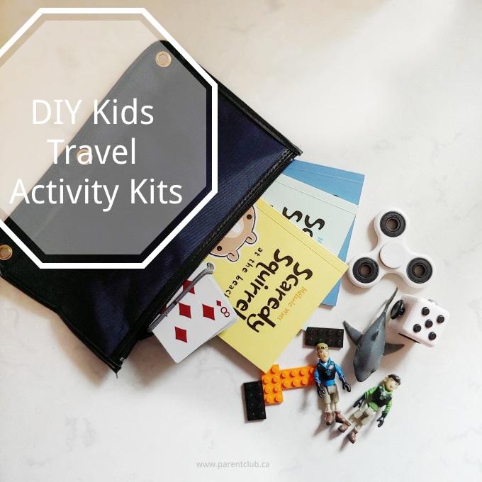 DIY Kids Travel Activity Kits via www.parentclub.ca