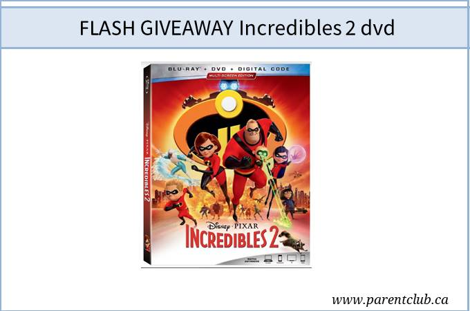 flash giveaway incredibles 2 dvd