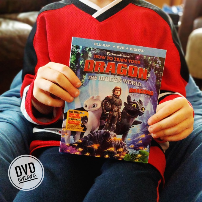 HOW TO TRAIN YOUR DRAGON: THE HIDDEN WORLD dvd giveaway!