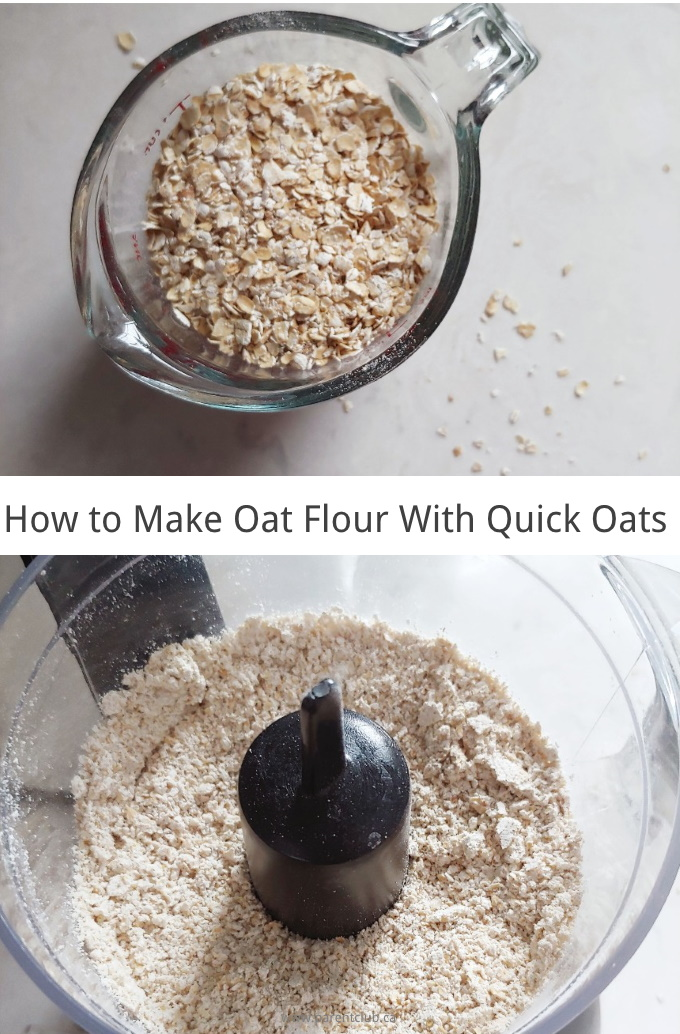 How to make oat flour with quick oats gluten-free baking via www.parentclub.ca