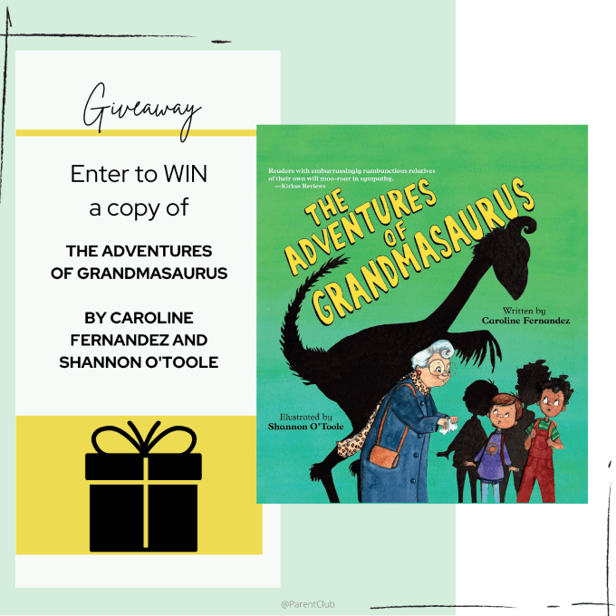 Book Giveaway THE ADVENTURES OF GRANDMASAURUS by Caroline Fernandez via www.parentclub.ca