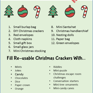 12 Eco-friendly Alternative Christmas Cracker Ideas. From small burlap bags to nesting dolls - eco-friendly Christmas crackers.