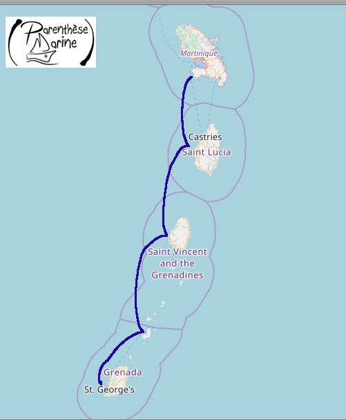 Croisière Martinique – Iles Grenadines