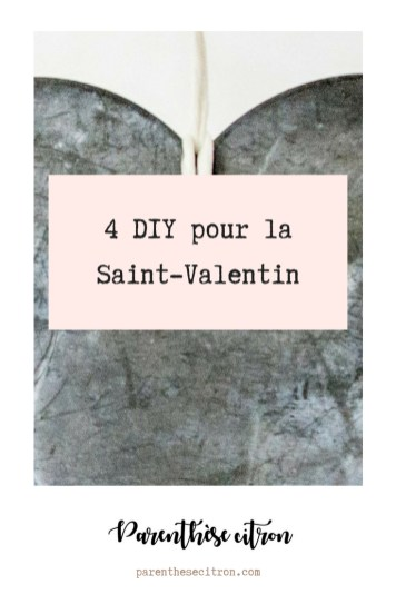4 DIY pour la Saint-Valentin