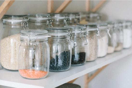 bocaux en verre stockage nourriture