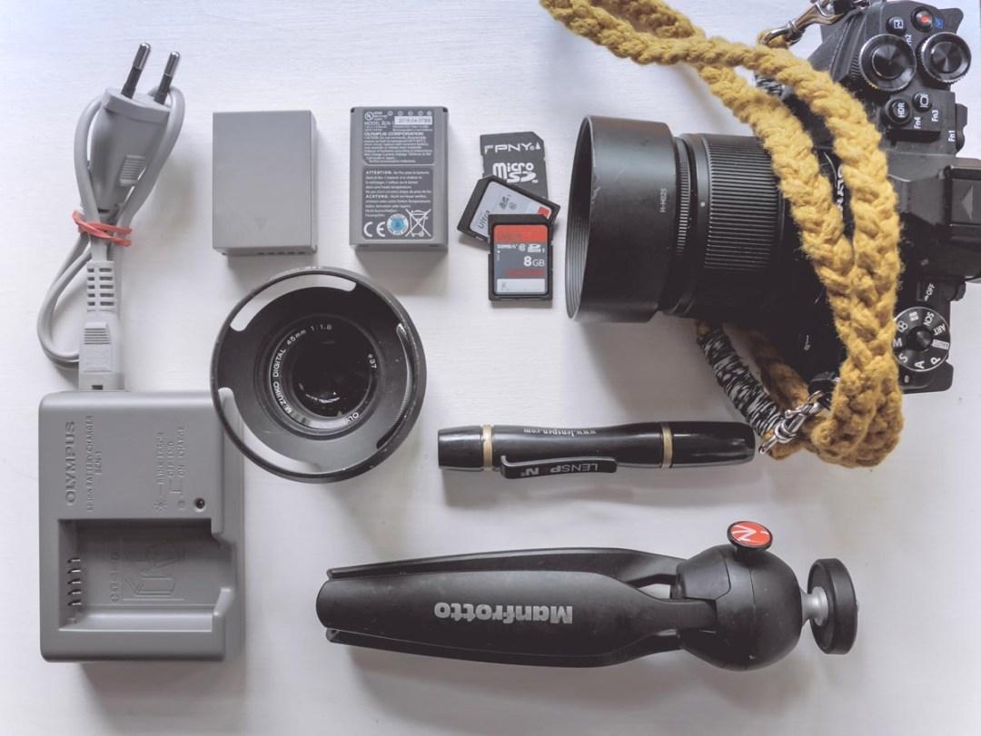voyager léger matériel photo