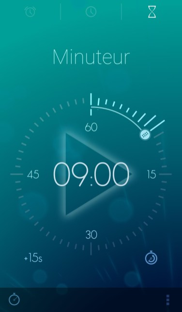 application timely android alarme