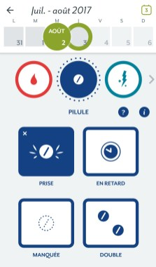 clue android appli cycle menstruel pilule