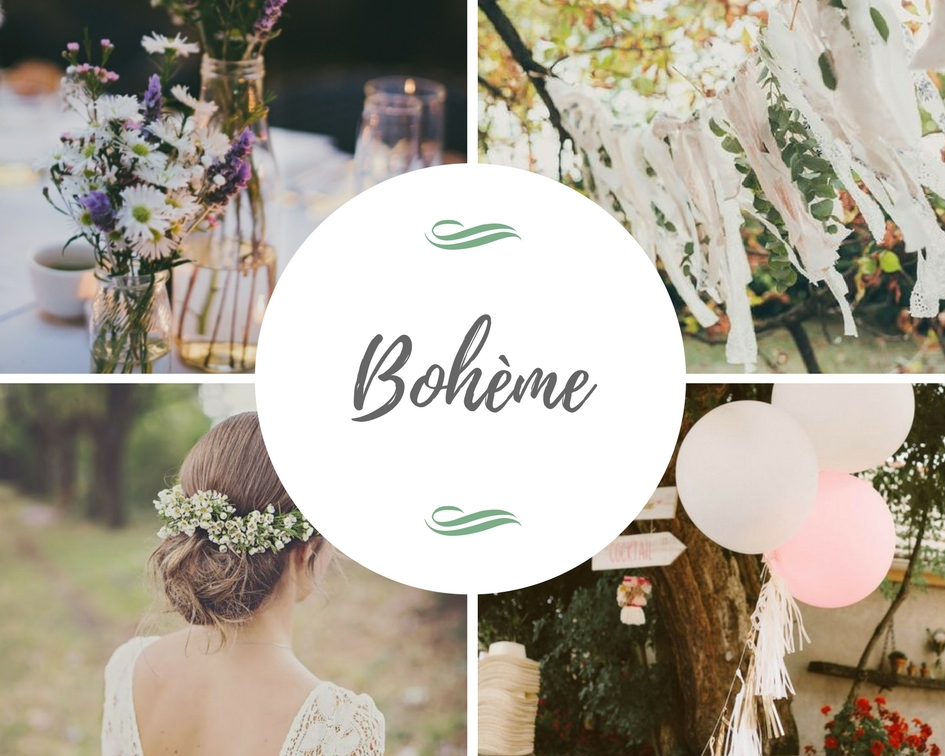 planche inspiration moodboard mariage bohème