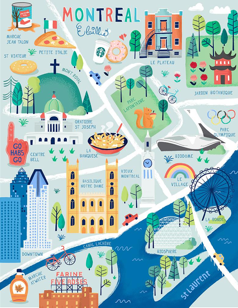Carte Montréal - @elaillce