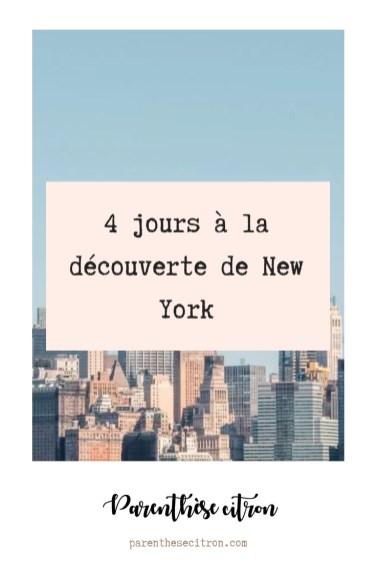 4 jours à la découverte de New-York