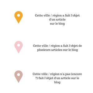 Carte des voyages légende