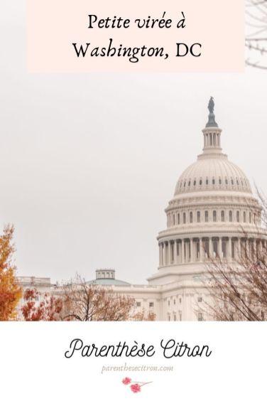 Petite virée à Washington, DC