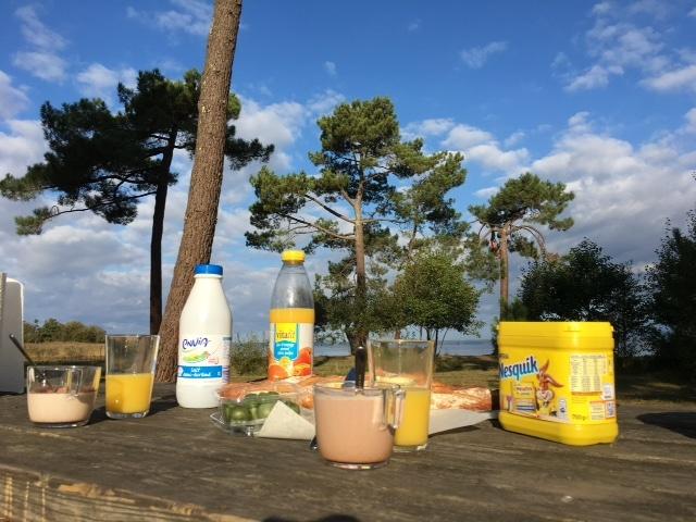 Pique nique au bord du lac de Sanguinet