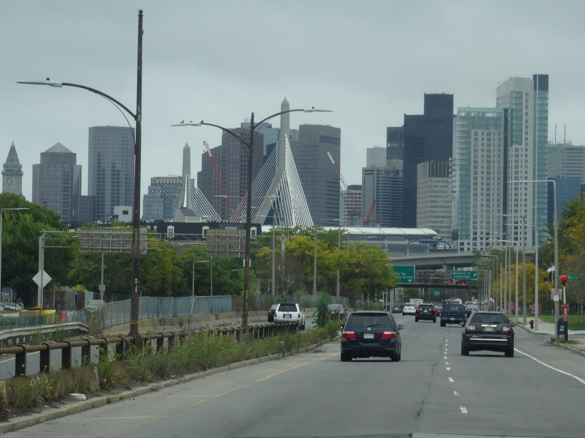 L'arrivée sur Boston