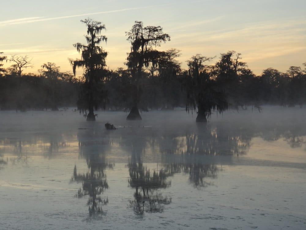 Lever du jour sur le lac Martin
