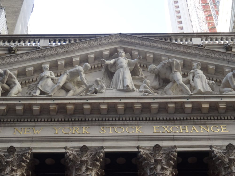 le fronton du New York Stock Exchange
