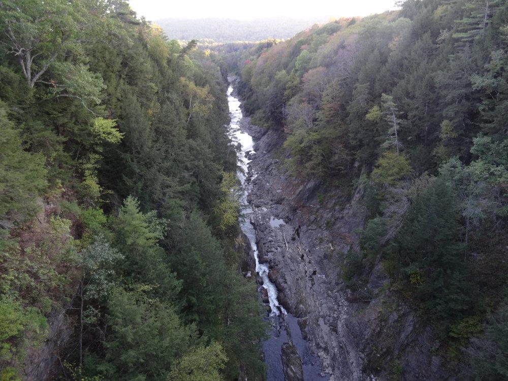 Les gorges du Quechee State Park