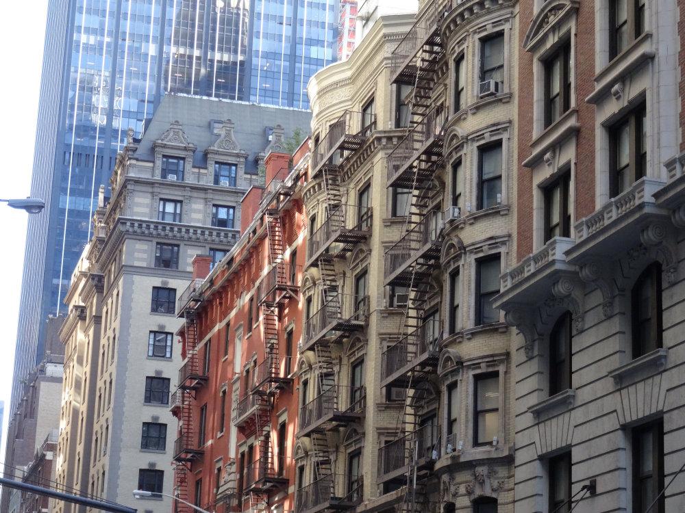 Les vieux immeubles new-yorkais