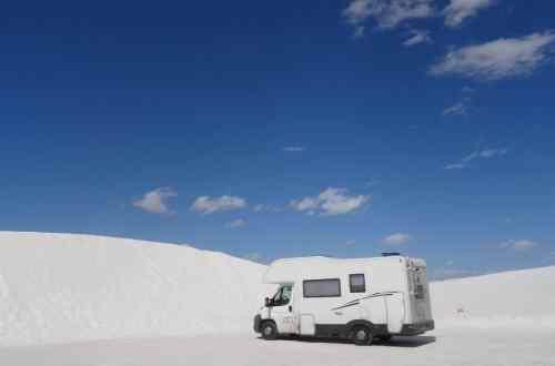 White Sand Dunes, monument national du Nouveau Mexique aux Etats-Unis