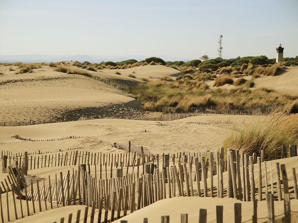 Phare et dunes de l'Espiguette, petite Camargue, grand site de France