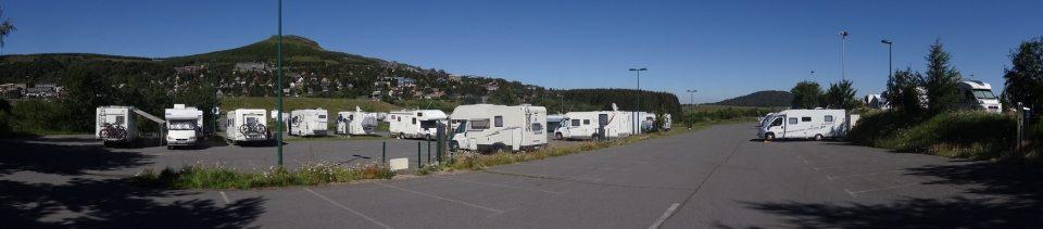 Aire de camping-cars à Super Besse, Puy de Dome