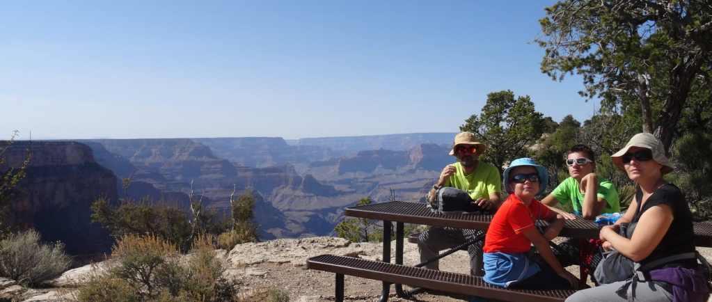 En famille au Grand Canyon