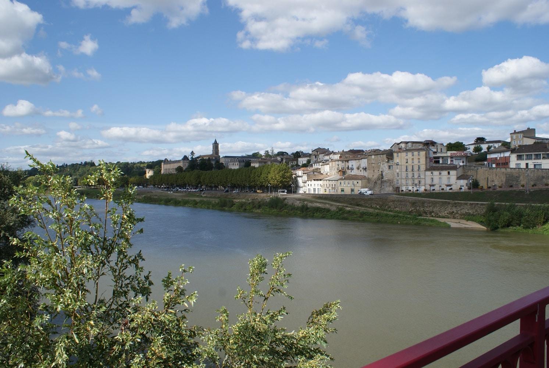 La Réole et les rives de Garonne