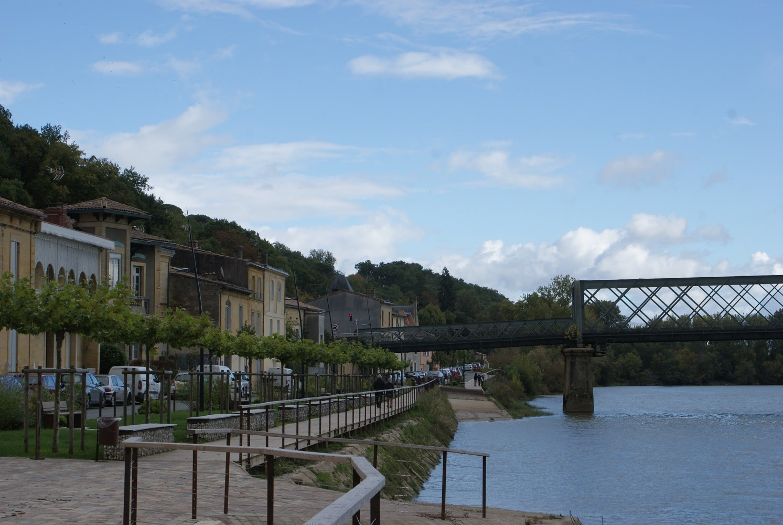 Le port aménagé sur la Garonne à Langoiran