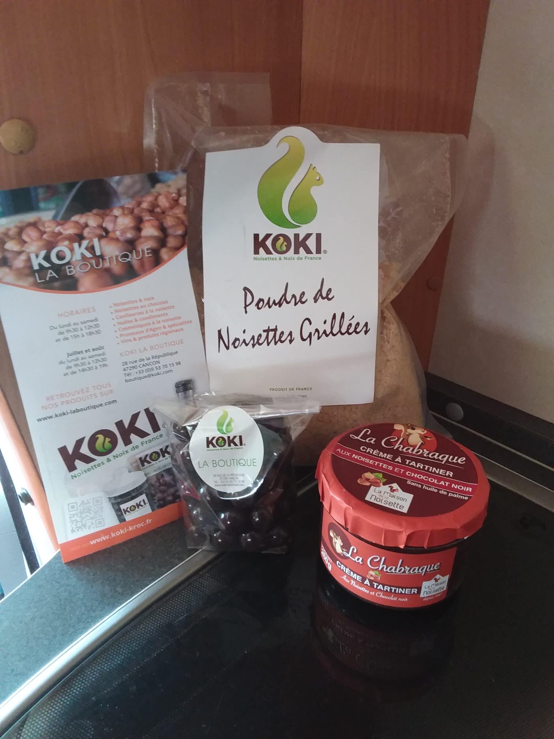 Koki, spécialités du Lot-et-Garonne à base de noisettes