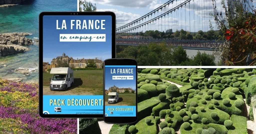 Pack découverte France en camping-car, guide numérique gratuit
