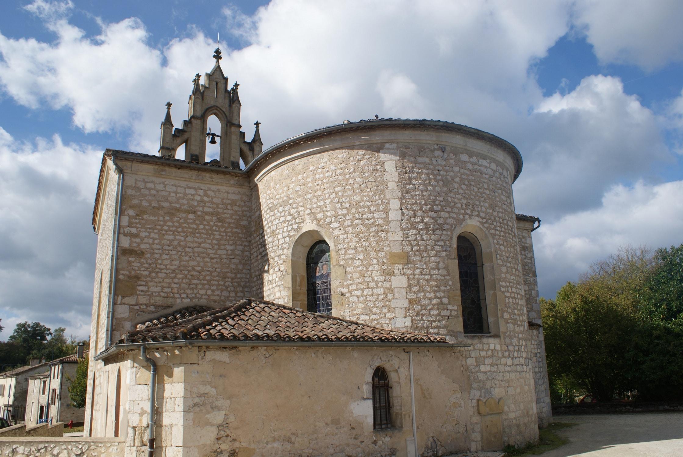 Eglise de Thoumeyragues - Entre-deux-Mers en camping-car