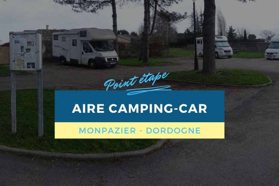 Aire camping-car de Monpazier (Dordogne)