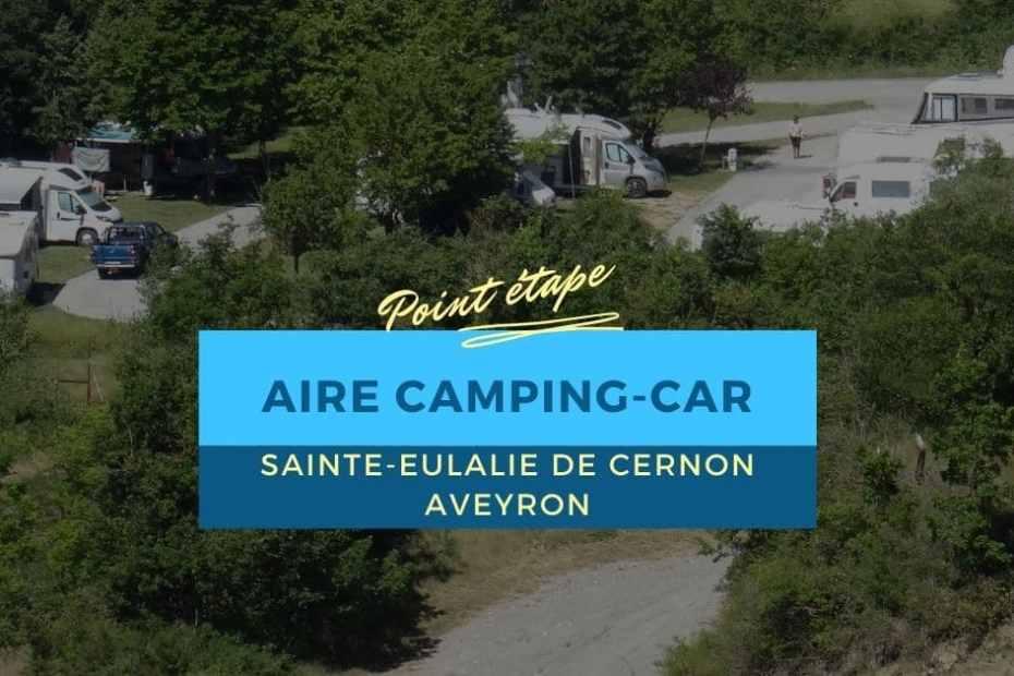 Aire camping-car de Sainte-Eulalie de Cernon - Aveyron
