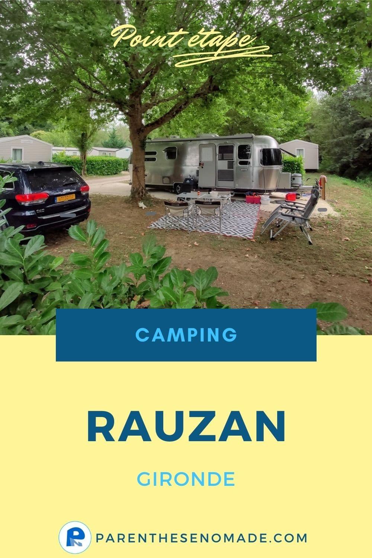 Une étape en camping-car en Gironde : le camping du Vieux château à Rauzan