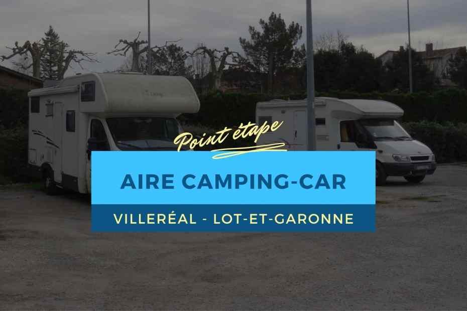 Aire camping-car de Villeréal, Lot-et-Garonne