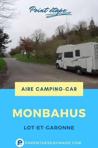Aire camping-car municipale de Monbahus (Lot-et-Garonne) : stationnement et services gratuits