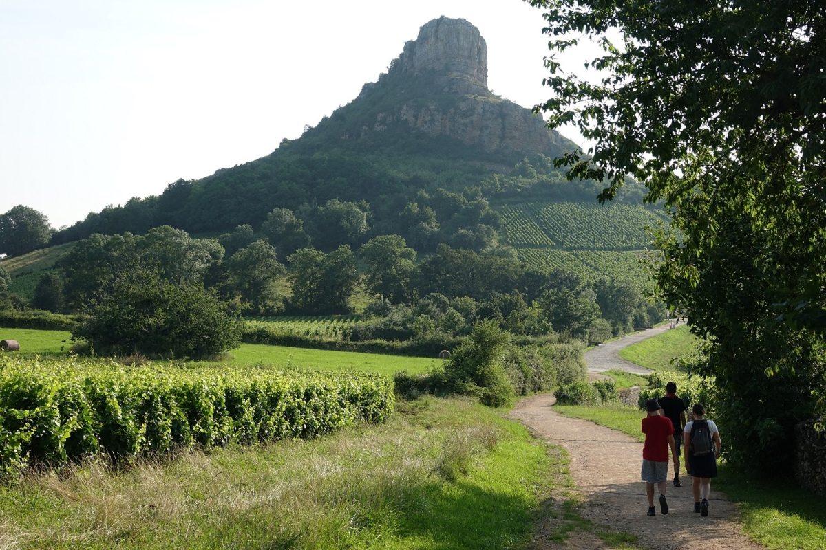 Sentier Roche de Solutré
