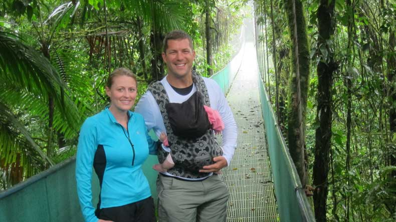 Parenthood and Passports - Hanging Bridge tour Costa Rica