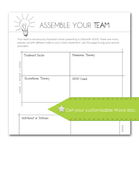 Assemble Your Team, customize