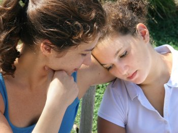 mom and daughter talking and validating emotions