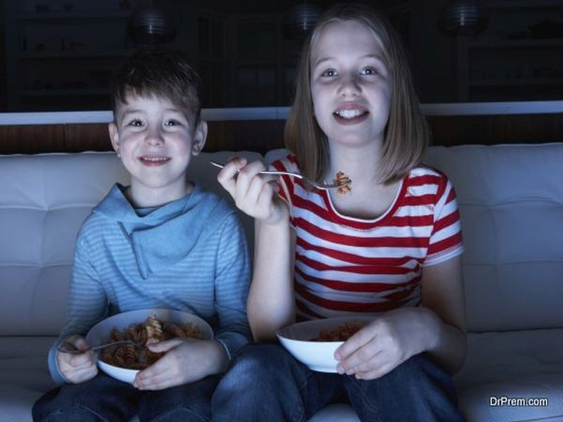 Children Enjoying watching TV