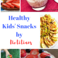 Stop giving your child mundane snacks and try these easy and healthy and fun kids' snacks by dietitians! Pin for later!
