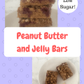 Peanut Butter and Jelly Bars- Low sugar! Great snack and lunchbox treat for your kids!