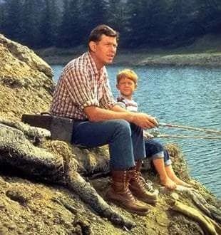 vissen met je Zoon