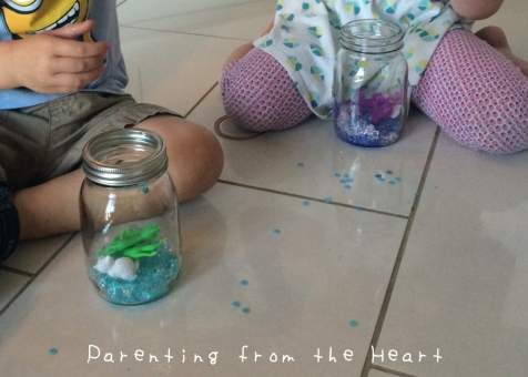 DIY Sensory Jars | Parenting from the Heart empathetic parenting, parenting tips, positive parenting, positive parenting strategies,  positive discipline, positive parentings tips