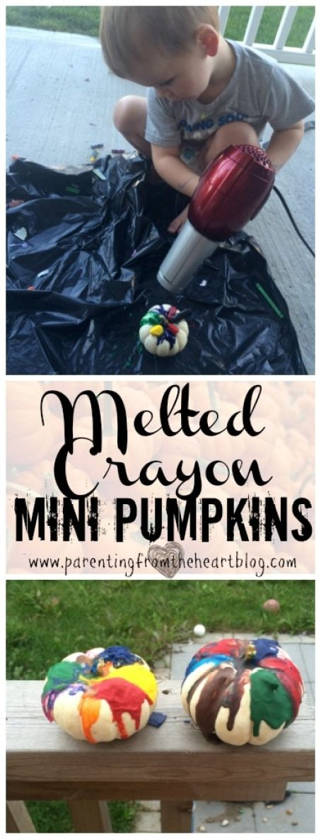 These mini pumpkin crafts are toddler-friendly, easy to set up, budget friendly and a lot of fun! Halloween, Fall activities, toddlers, preschoolers, kids activities